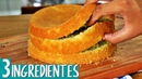 PÃO DE LÓ PROFISSIONAL COM APENAS 3 INGREDIENTES MASSA SUPER FOFINHA