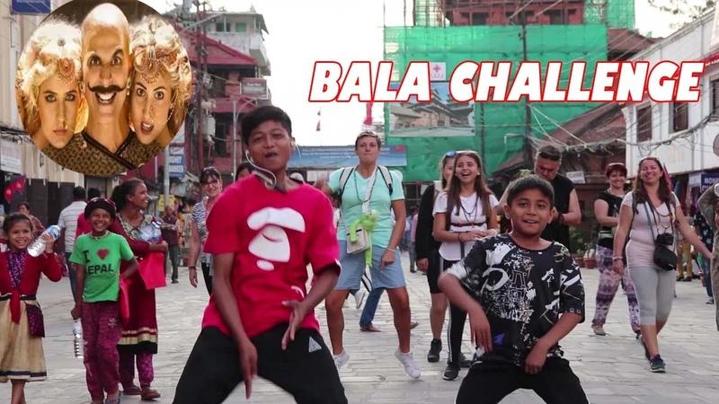 Nepalese Kids Do TheBalaChallenge with Foreigner Crazy Public Reaction Akshay Kumar