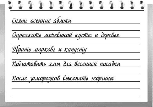ПЛАН РАБОТ НА ОКТЯБРЬ ( от Галины Кизима)