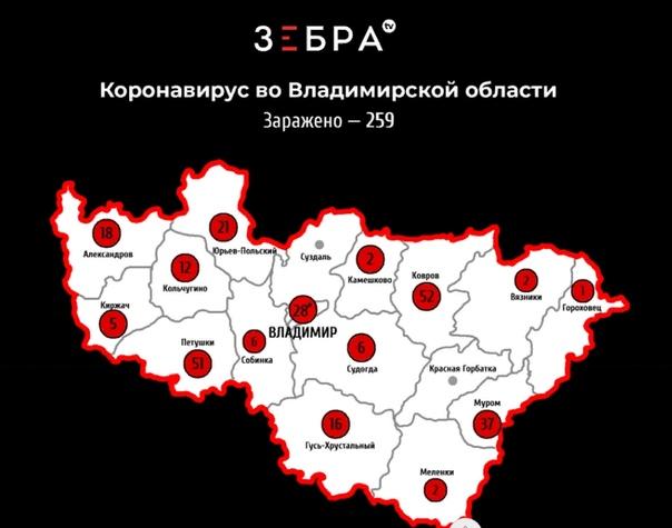 На территории Владимирской области по состоянию на 10 часов 20 апреля 2020 года...