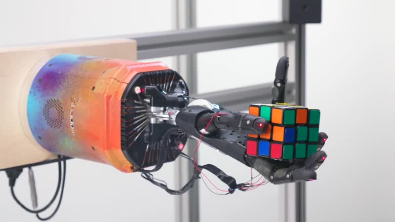 Solving Rubik's Cube with a Robot Hand Uncut