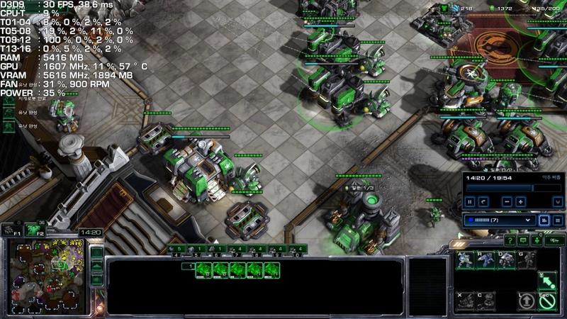 StarCraft II (4 vs 4) | Ryzen 7 1700 OC Gigabyte AORUS GeForce GTX 1080 Ti 11GB Xtreme Gaming