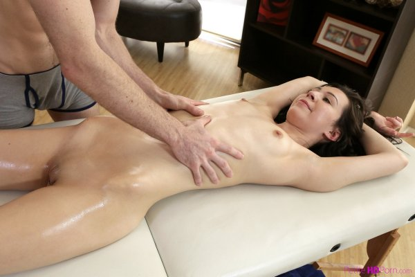 Gemischtrassiger Scheide College Massage