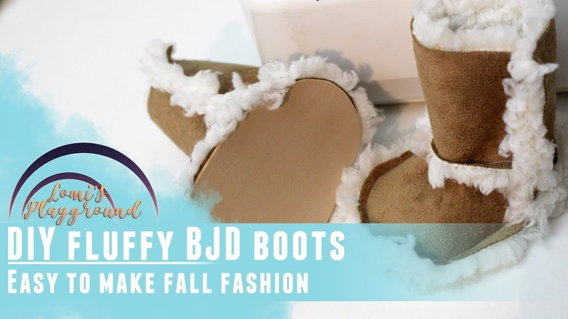 How to make fluffy boots for BJDs