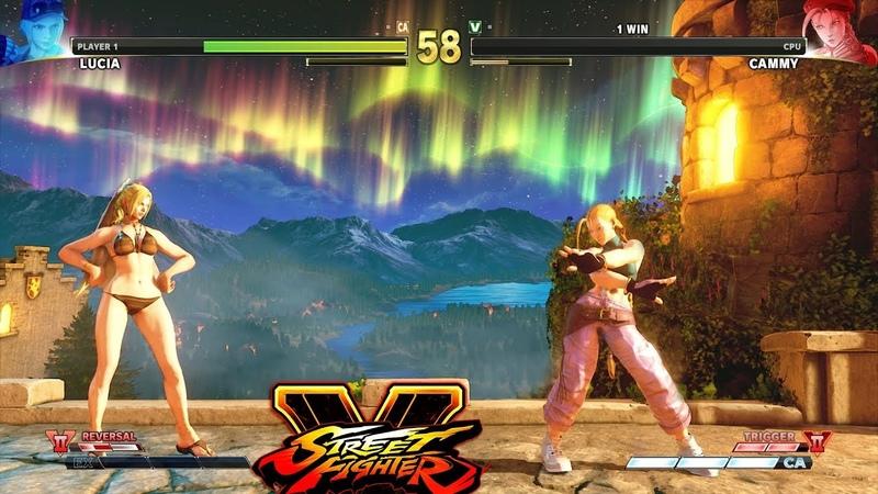 Street Fighter V AE Lucia vs Cammy