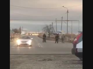 Момент недавнего подрыва смертницы в Грозном