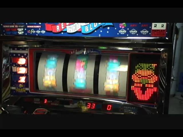 IGT TRI-COLOR RED WHITE AND BLUE BIG BONUS PACHISLO SLOT MACHINE