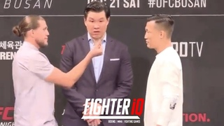 """BRIAN ORTEGA VS. """"KOREAN ZOMBIE"""" CHAN SUNG JUNG FIRST FACEOFF FOR UFC FIGHT NIGHT 165: BUSAN!"""