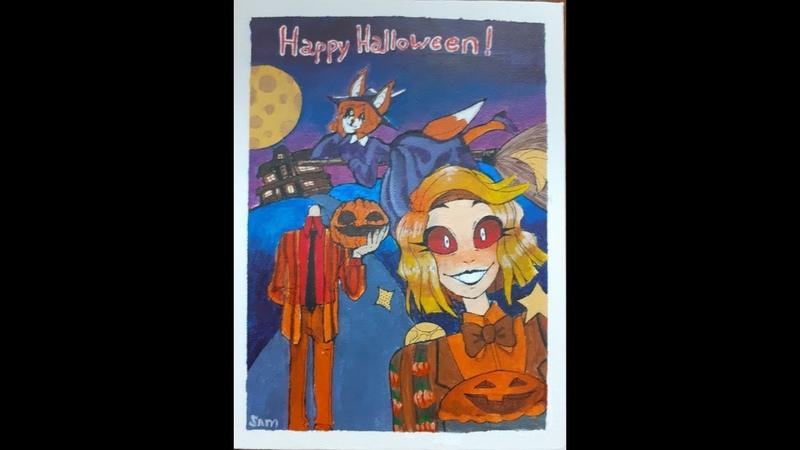 SpeedPaint Halloween special |My OC|