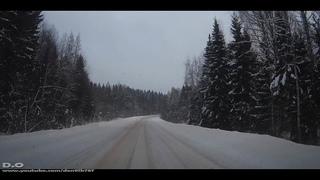 Зимний снежный дорожный видеоролик в летние дни 2019 . Видео для любителей дорог