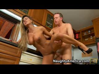 Esperanza Gomez seduce married man to sex in the kitchen [Busty, Blonde, Big Tits, High Heels, Cheating, Orgasm, Hardcore. 720p]