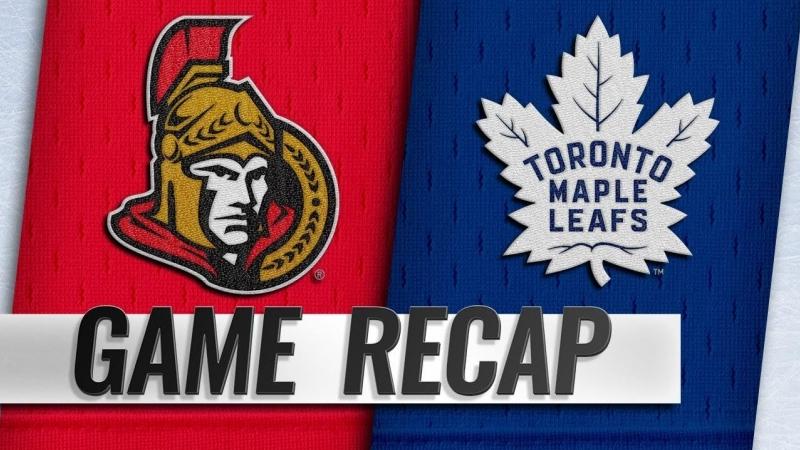 НХЛ регулярный чемпионат Торонто Мэйпл Лифс Оттава Сенаторз 3 5 0 1 3 2 0 2