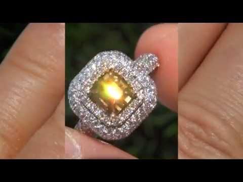 GIA 2.53 Carat VVS2 Fancy Cognac Diamond 14k Gold Engagement Wedding Estate Ring