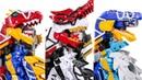 Красный vs Синий Мегазорд динозавр. Возвращение легенды. Динозавры роботы трансформеры в Дино заряд