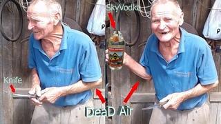 Дед Алик выпил втихаря самогонку. Но его спалили!