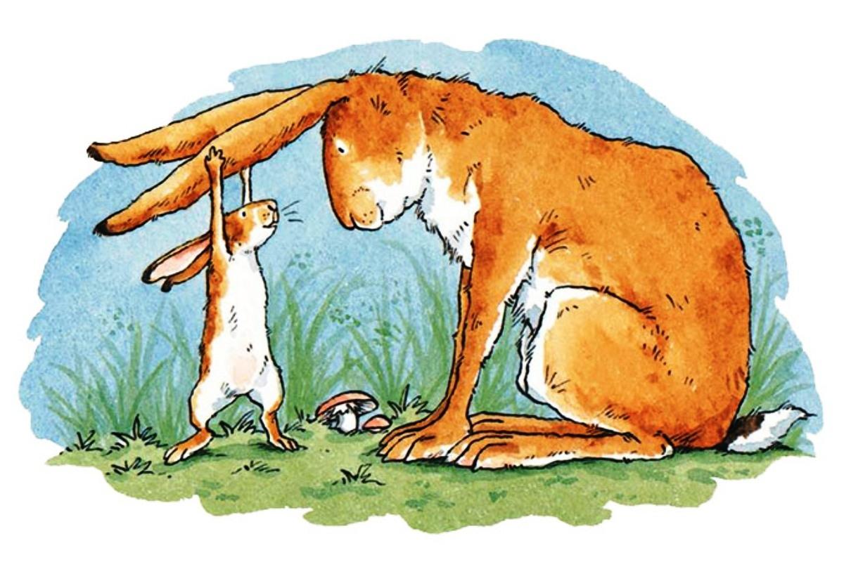 картинка маленький зайчонок улыбнулся маме этикетки