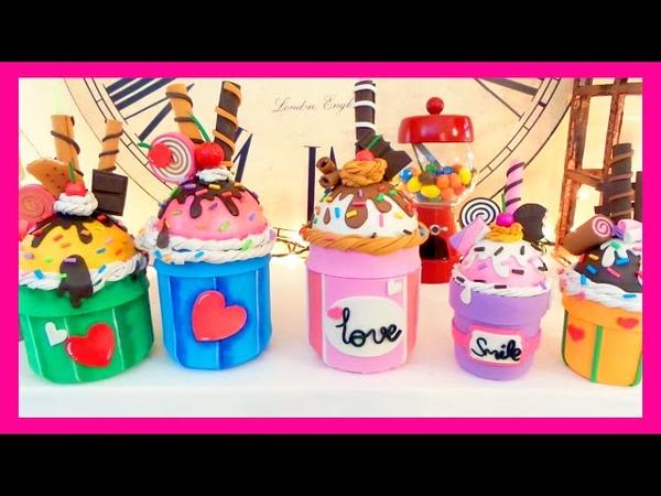 Manualidades fáciles dulceros en forma de cupcake reciclar tarros de cristal