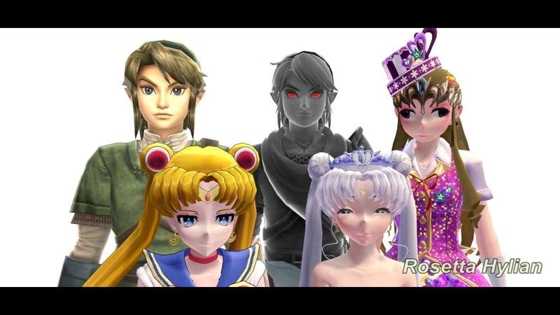 MMD OMFG MEME DESU TLOZ X Sailor Moon