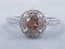 1.84 ctw Round Brilliant Cut Diamond Engagement Ring Natural Chocolate - BigDiamondsUSA