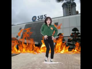 i was bored so heres wendy dancing to umpah umpah in front of sbs building on fire