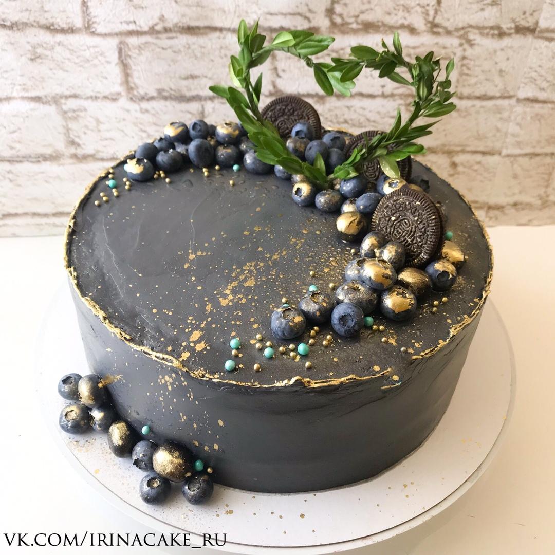 Серый свадебный торт (Арт. 489)