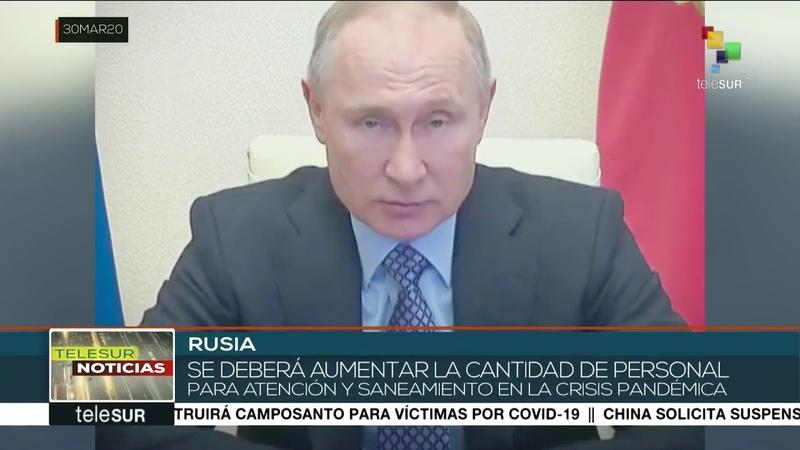 Rusia Putin anuncia medidas para reforzar combate a la pandemia
