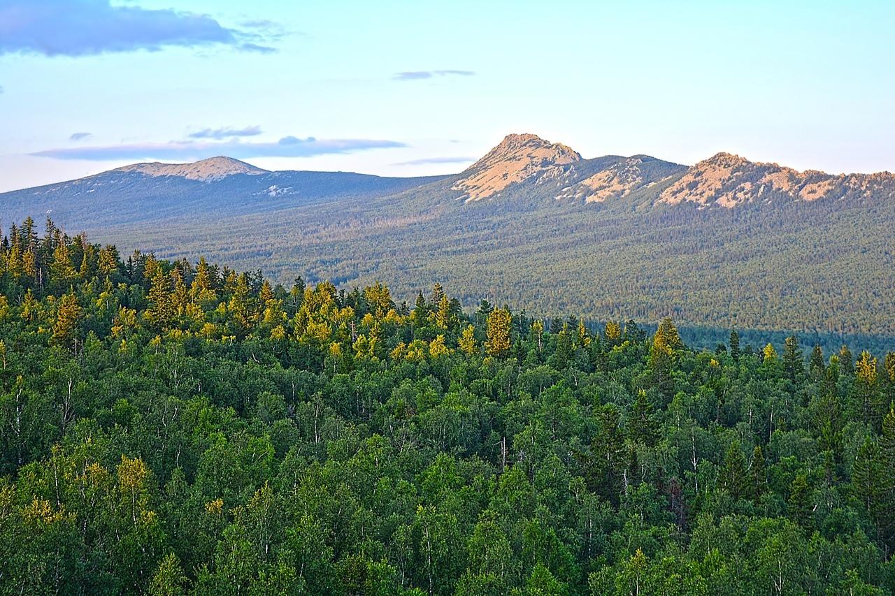 На заднем плане гора Круглица с белой от курума вершиной. А на переднем — зубцы Откликного Гребня, напоминающие спину стегозавра.