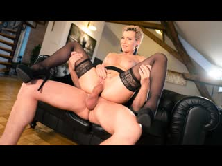 Subil arch russian milf romanced in stockings (big tits, milf, russian, blowjob, blonde, lingerie, hardcore)