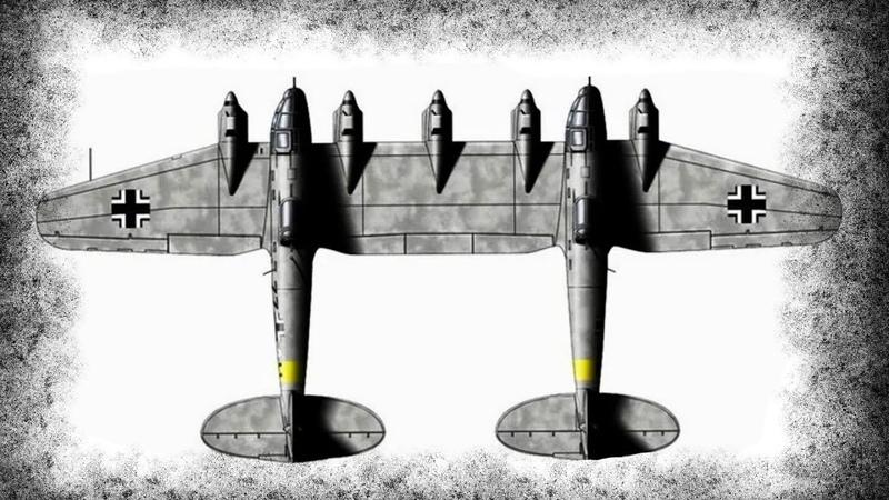 Гигантский Heinkel 111 Zwilling Сиамские Близнецы Третьего Рейха