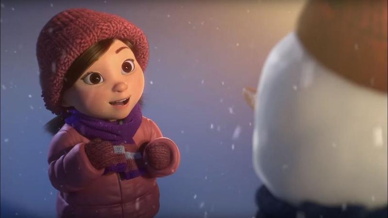 ТРОГАТЕЛЬНЫЙ Мультфильм про Рождество 2020 Лили и Снеговик Новогоднее Видео для Детей и Взрослых