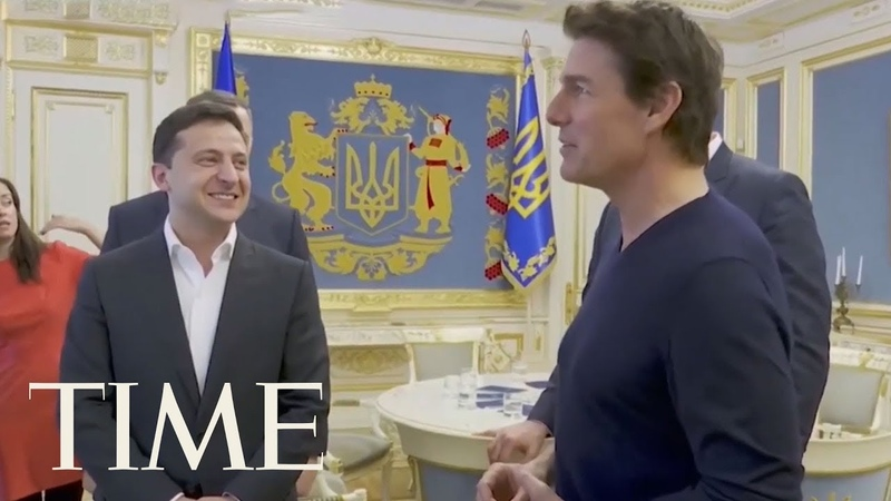 You're Good-Looking!' Ukraine's President Charms Tom Cruise Amid Trump Impeachment Probe | TIME