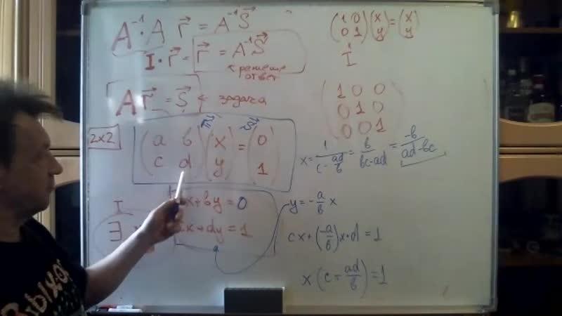 обратная матрица определитель