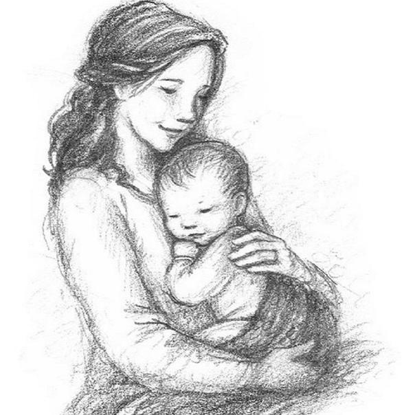 Рисунок на день матери поэтапно