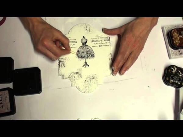 LaBlanche Shabby Effekt mit Stempeln