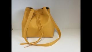 Coudre un sac seau en similicuir - Tuto Couture Madalena