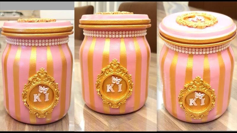 DIY Very beautiful Glass jar decoration Home decor Glazen pot decoratie ideeen