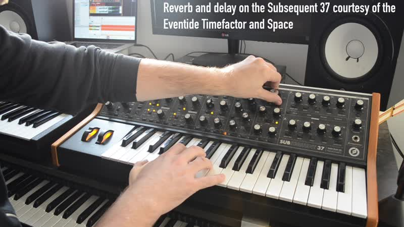 Moog jam with Matriarch and Subsequent 37 Eventide Space and Timefactor Strymon Big Sky