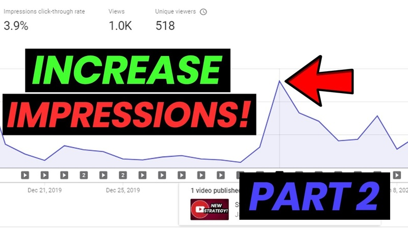 How To Increase Video Impressions Across Your Entire YouTube Channel | Número 2