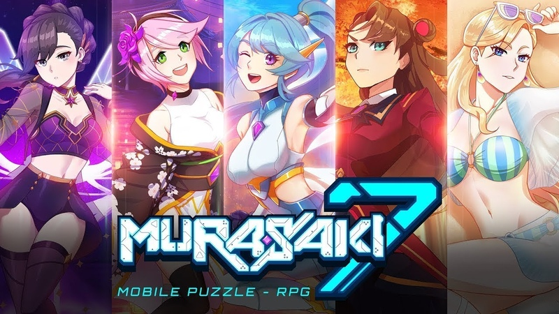Murasaki7 Anime Puzzle RPG android game first look gameplay español