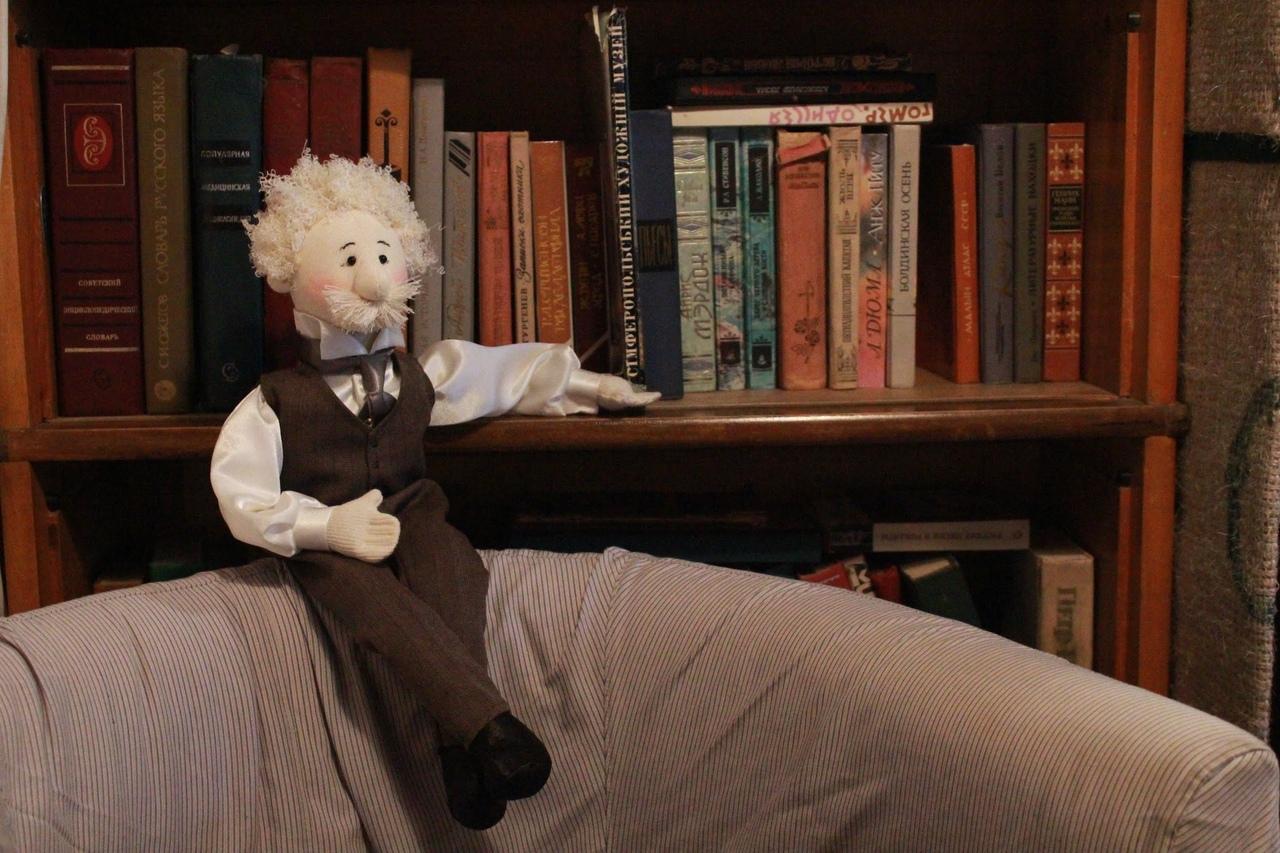 Энштейн . Кллекционная кукла