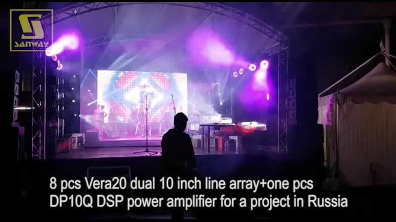 8 pcs Vera20 dual 10 inch line array project in