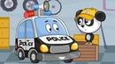 Полицейская машина и Автомастер Биби. Новая серия Машины Помощники! Мультики для детей