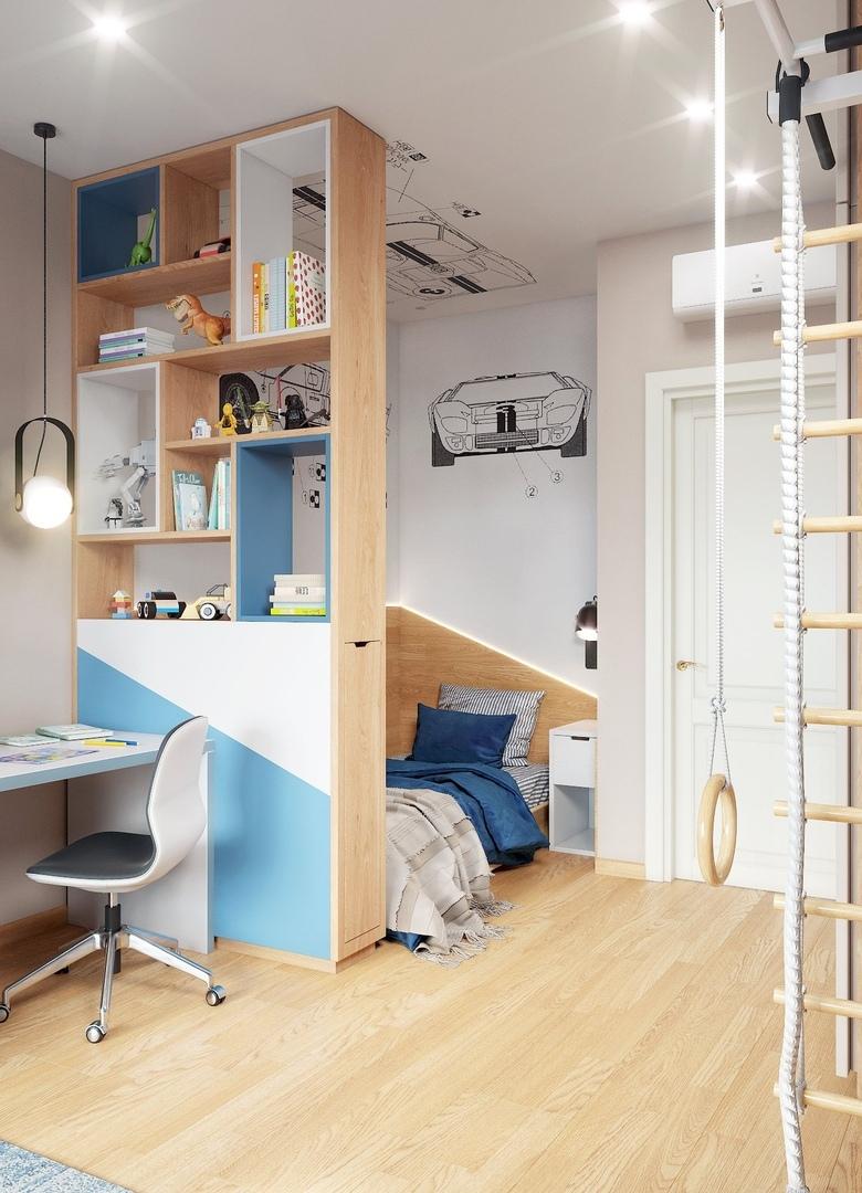 Детская комната для мальчика 6 лет.