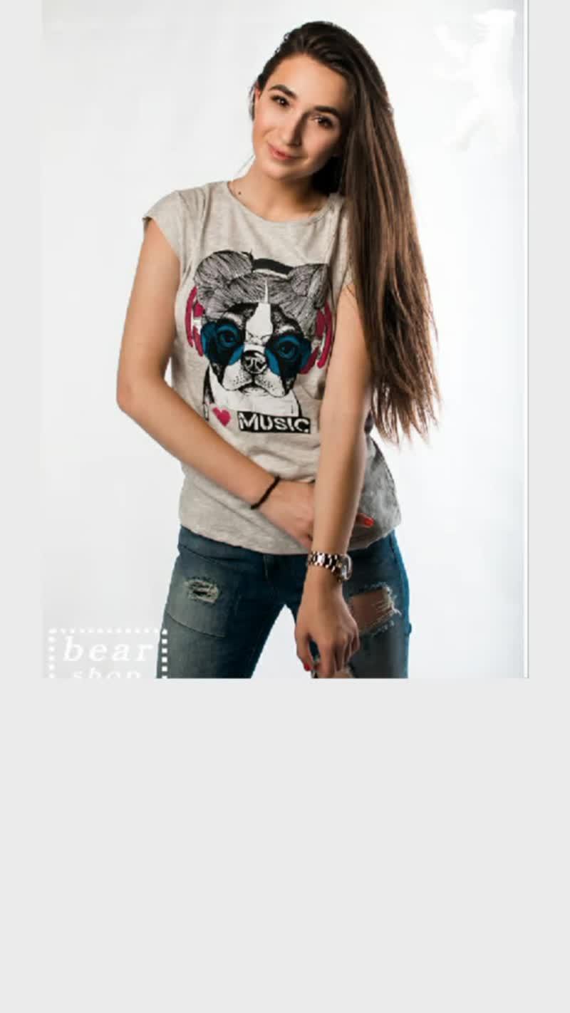 Женская футболка. Магазин одежды BEAR shop.mp4