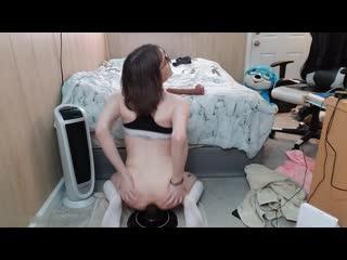 Claire Tenebrarum (FlammableOil) - Tiny Tgirl Fucks Herself with Big Cock (05 Jun 2020) 720p