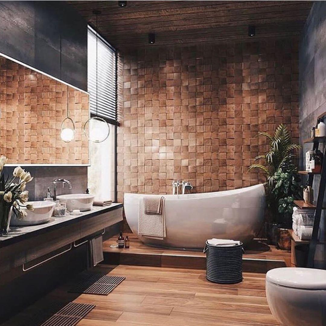 Оригинальный дизайн-проект ванной комнаты