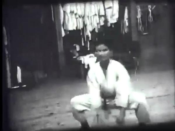 Kikugawa Sensei performs Seipai at the old Jundokan
