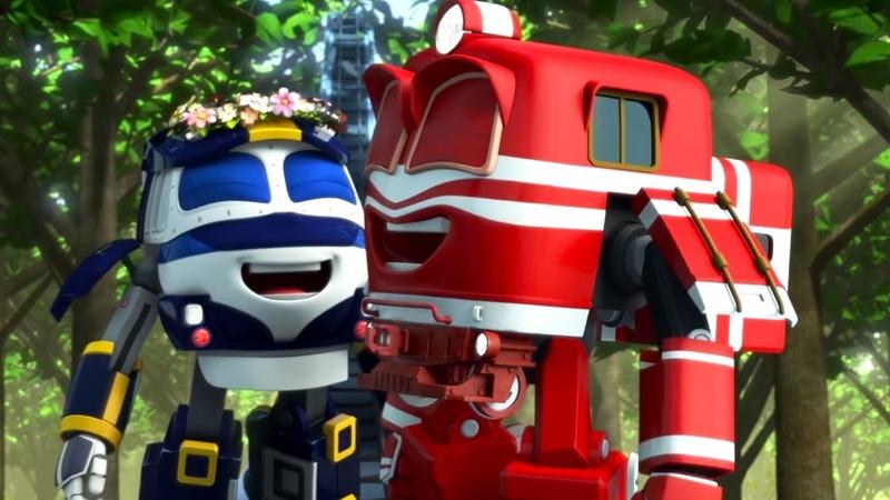 Роботы Поезда Все серии с Кеем сборник 4 Сезон 1 Мультфильмы для детей