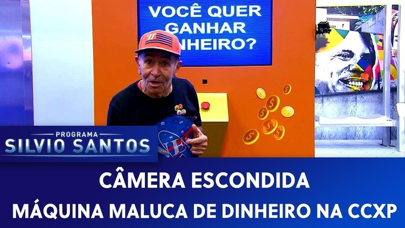 Máquina Maluca de Dinheiro na CCXP | Câmeras Escondidas (010320)