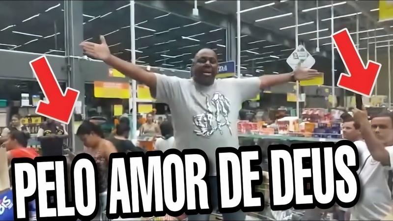 Coronavírus Homem surta em supermercado após ver multidão fazendo compras